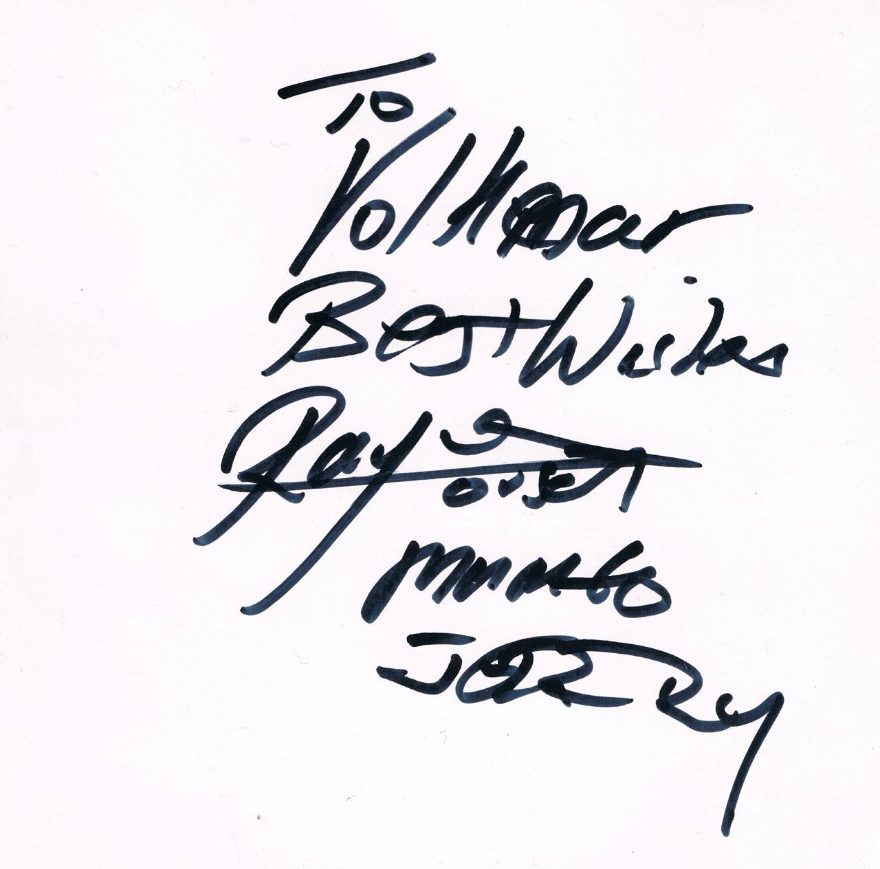 Autogramm von Ray Dorset