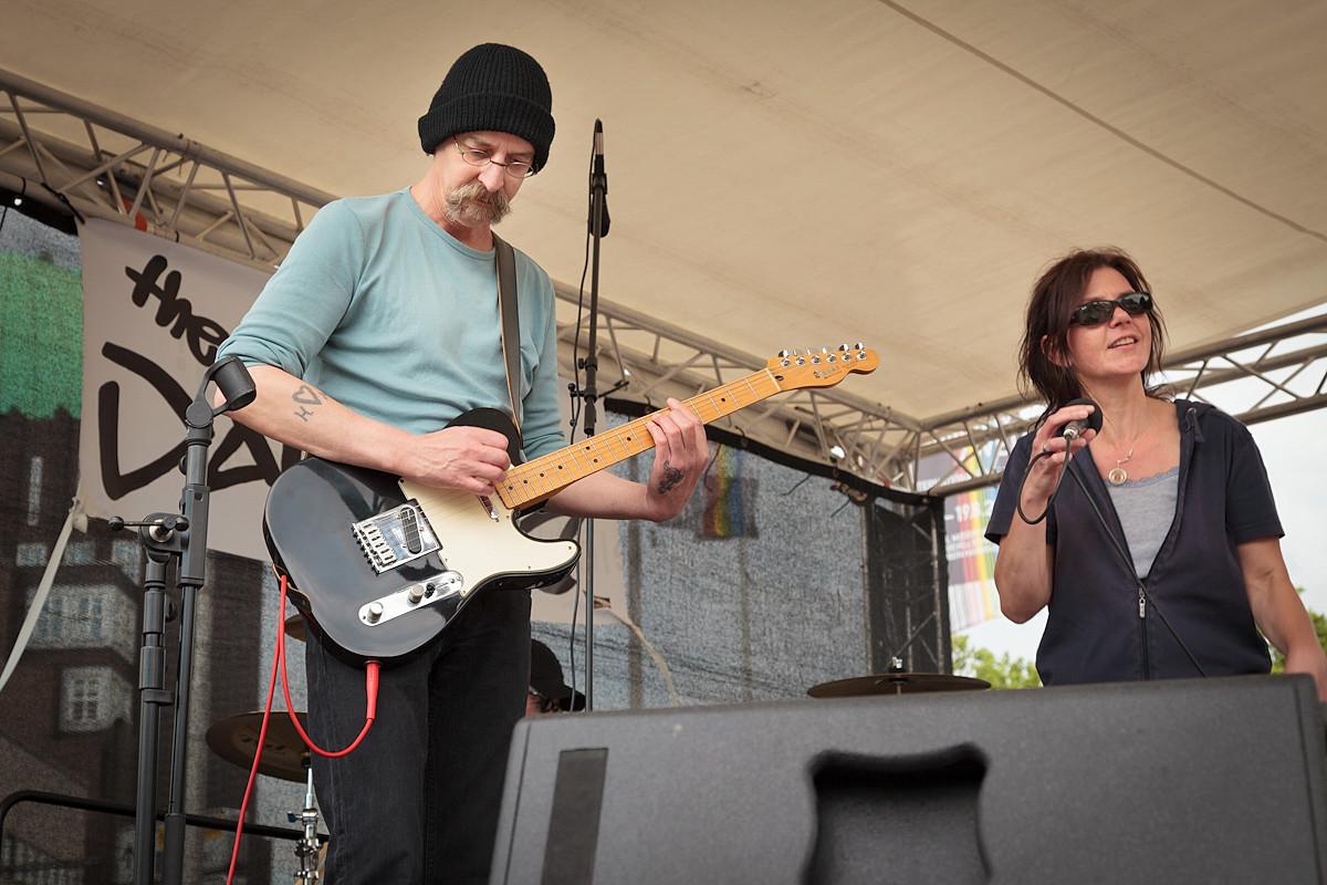 29.07.2012: The Daisies spielen auf einer ver.di. Kundgebung
