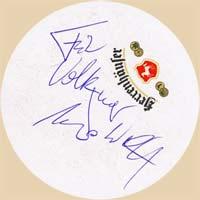 Autogramm von «Das Dritte Ohr» Sänger «Udo Wolff» auf einem Herri-Bierdeckel