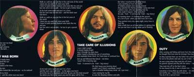 Frumpy: Mittelseite des CD-Begleithefts von «2»