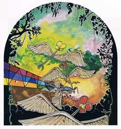 Jane: schönes Artwork (Rückseite des CD-Begleithefts von «Lady»)