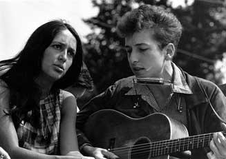 Joan Baez und Bob Dylan
